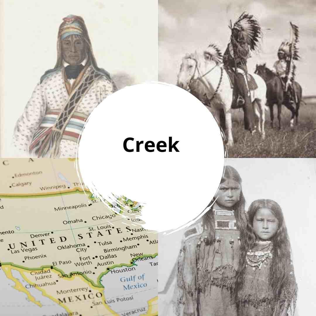 Creek nativos americanos