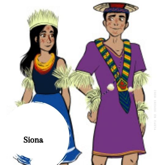 vestimenta Siona